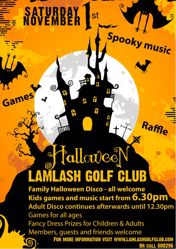 HALLOWEEN FAMILY DISCO – SATURDAY 1ST NOVEMBER